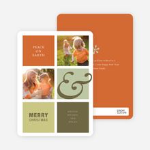 Peace on Earth Holiday Photo Cards - Pumpkin