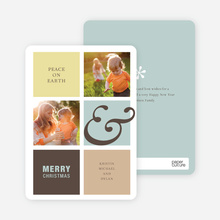 Peace on Earth Holiday Photo Cards - Buttercup
