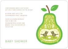 Pear Birds Modern Birthday Invitation - Yellow
