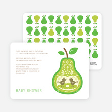 Pear Birds Modern Birthday Invitation - Yellow
