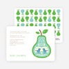 Pear Birds Modern Birthday Invitation - Sea Blue