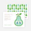 Pear Birds Modern Birthday Invitation - Sea Blue