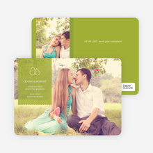 Pear Themed Save the Date Photo Cards - Bamboo