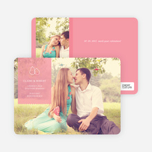 Pear Themed Save the Date Photo Cards - Cotton Candy