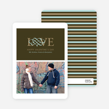 Pet Love Valentine's Day Card - Dark Khaki