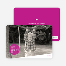 Picture is Worth a Thousand Words Valentine's Day Card - Fuchsia