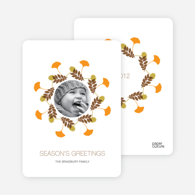 Holiday Cards: Pine Needles and Wreaths - Carrot