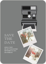 Polaroid Save the Date - Grey