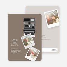 Instant Photo Camera Save the Date Photo Cards - Yellow