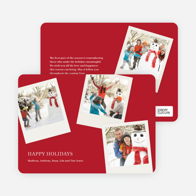 Instant Photo Collection Holiday Photo Cards - Scarlet