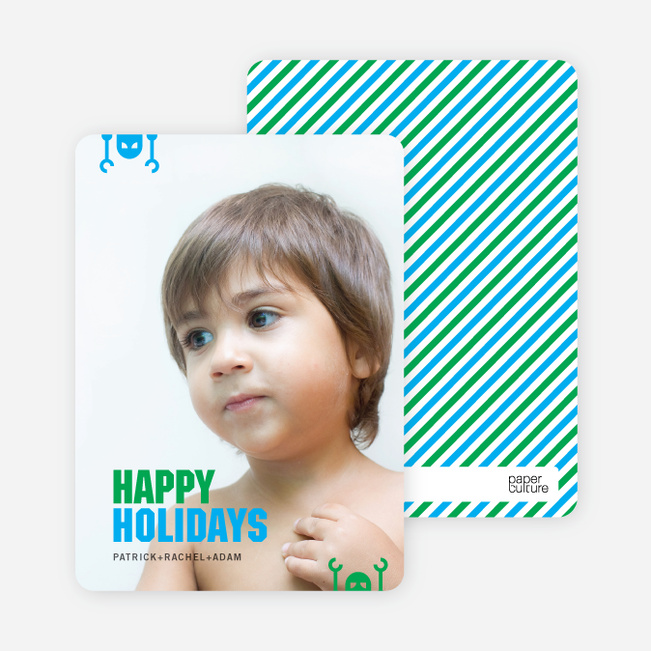 Robot Holiday Greeting Cards - Shamrock