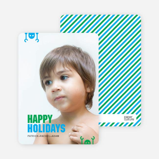 Robot Holiday Greeting Cards - Shamrock