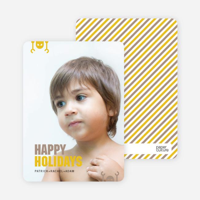 Robot Holiday Greeting Cards - Sun Yellow