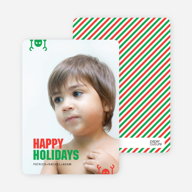 Robot Holiday Greeting Cards - Tomato Red