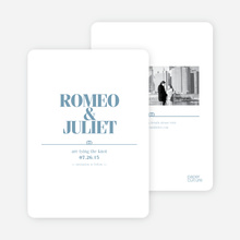 Save the Date Cards: The Knot - Cadet Blue