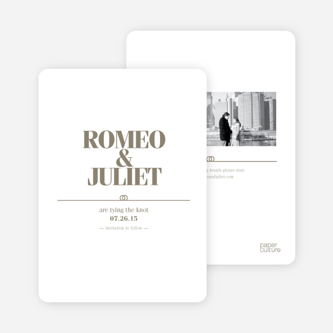 Save the Date Cards: The Knot - Taupe