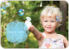 Sharing the Joy of Bubbles this Easter - Blue Bublle