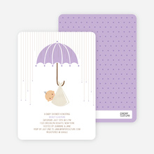 Shower Us With Your Love Baby Shower Invitations - Little Lavender