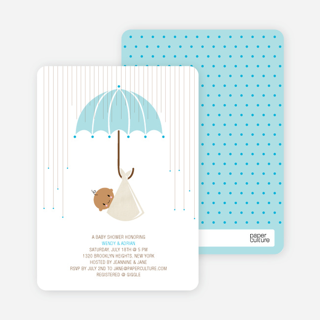 Shower Us With Your Love Baby Shower Invitations - Mistic Rain