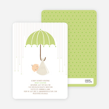 Shower Us With Your Love Baby Shower Invitations - Asparagus