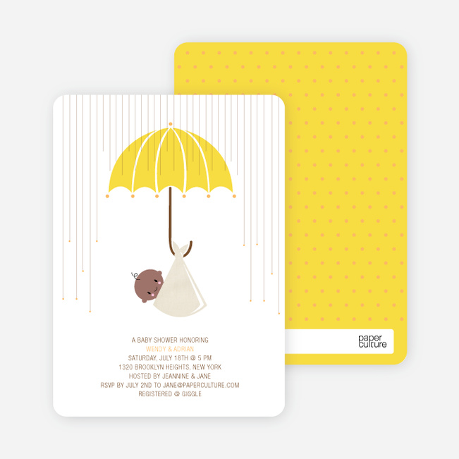 Shower Us With Your Love Baby Shower Invitations - Banana Lemon