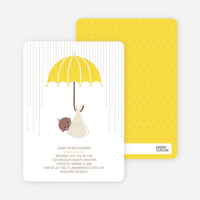 Shower Us With Your Love Baby Shower Invitations - Banana Lemon