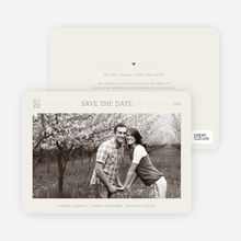 Simple. Classic. Modern. Save the Date Photo Cards - Eggshell