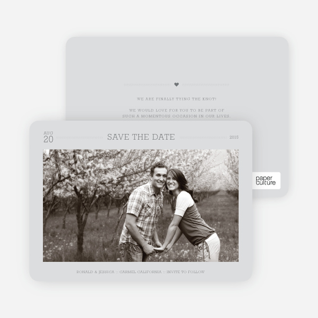 Simple. Classic. Modern. Save the Date Photo Cards - Gorgeous Gray