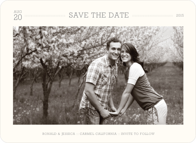 Simple. Classic. Modern. Save the Date Photo Cards - Pearl