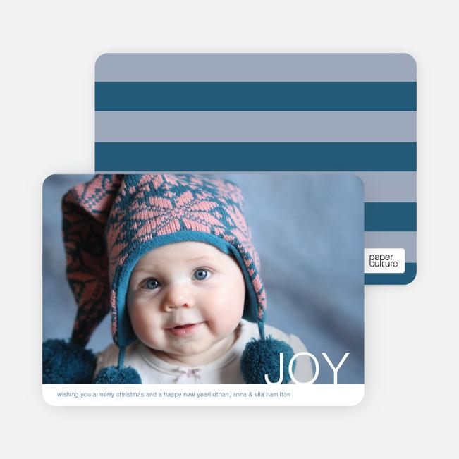 Simple Joy Holiday Photo Cards - Mystic Blue