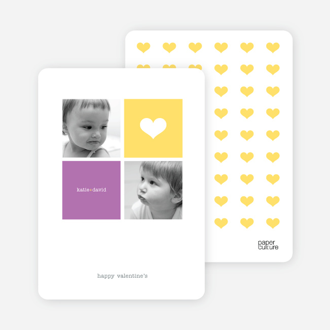 Simply Love Multi Photo Valentine's Day Card - Sun Yellow