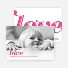 Simply Love: Valentine's Day Photo Cards - Fuschia