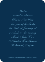 Simply Script Chinese New Year Cards - Navy