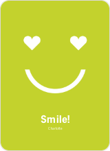 Saying Love with a Smile - Chartreuse