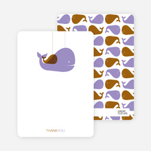 Momma and Baby Whale Mobile: Thank You Cards - Wisteria