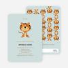 Tiger Baby Shower Invitations - Seafoam