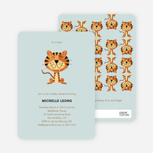 Tiger Baby Shower Invitations - Seafoam