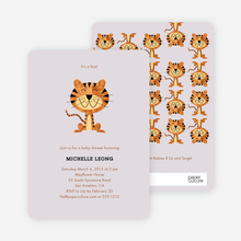 Year of the Tiger Shower Invites - Powdery Lilac