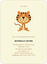 Year of the Tiger Shower Invites - Ecru