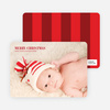 Traditional Type Holiday Photo Cards - Garnet