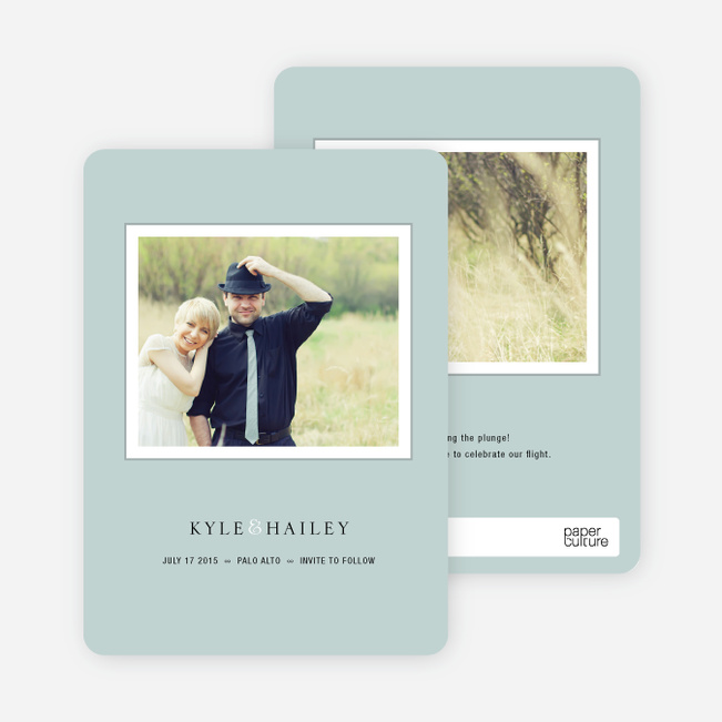 Unique Photo Save the Date Cards - Sage