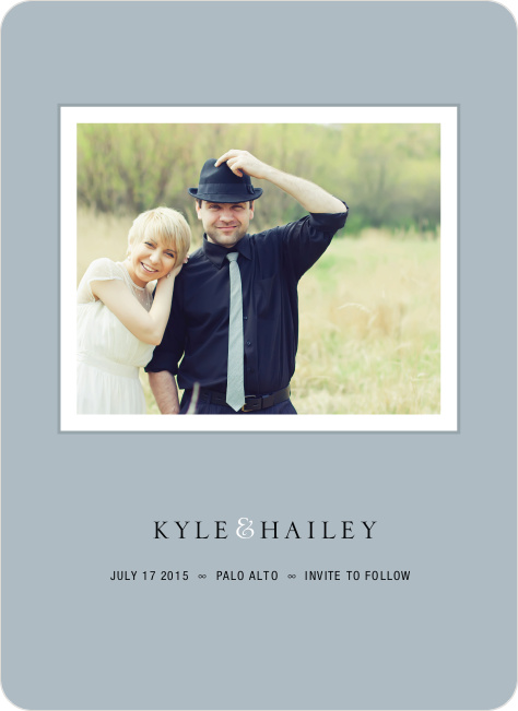 Unique Photo Save the Date Cards - Mystic Blue