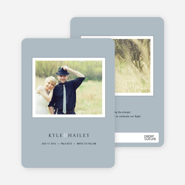 Unique Photo Save the Date Cards - Mystic Blue