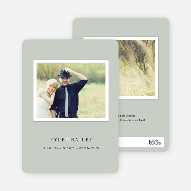 Unique Photo Save the Date Cards - Celadon