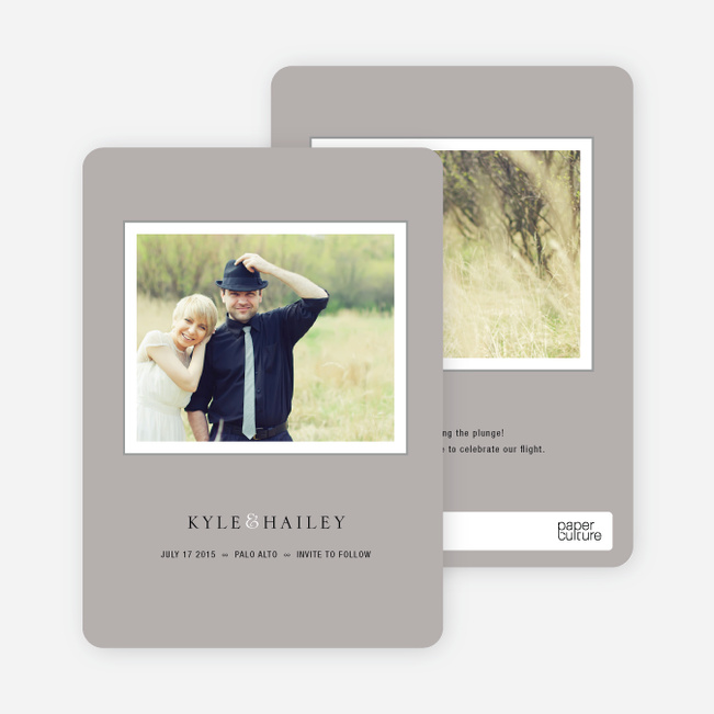 Unique Photo Save the Date Cards - Silver