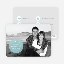 Wedding Icon Save the Date Cards - Baby Blue