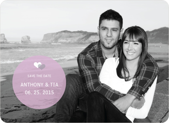 Wedding Icon Save the Date Cards - Lavender