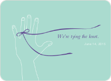 We're Tying the Knot Save the Date Cards - Blue Milk