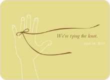 We're Tying the Knot Save the Date Cards - Gold Vanilla