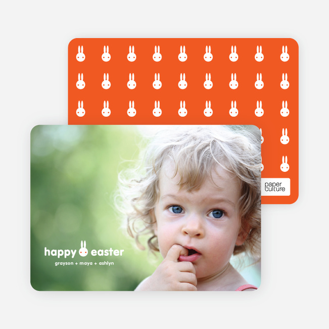 What's up Doc Easter Photo Card - White